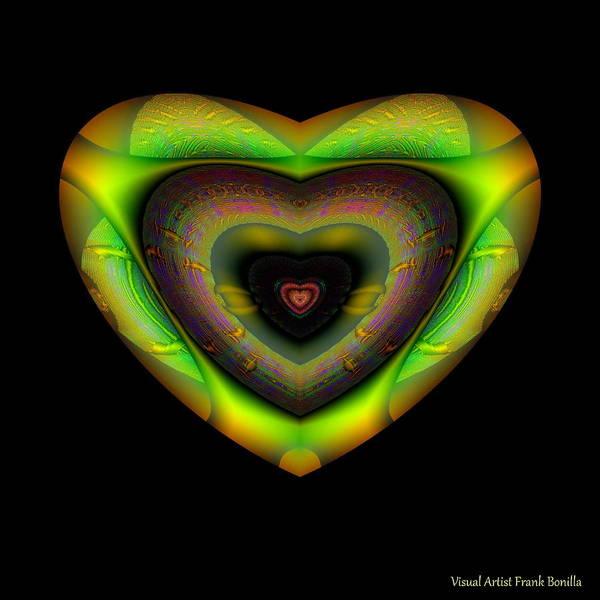 Digital Art - Hearts #12 by Visual Artist Frank Bonilla