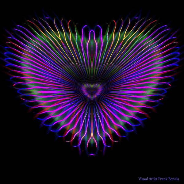 Digital Art - Hearts #14 by Visual Artist Frank Bonilla
