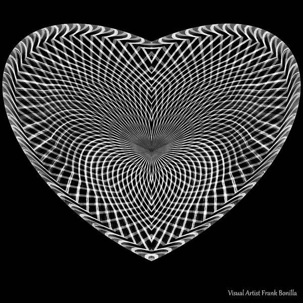Digital Art - Hearts #15 by Visual Artist Frank Bonilla