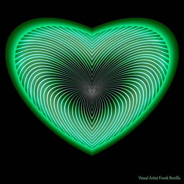 Digital Art - Hearts #16 by Visual Artist Frank Bonilla