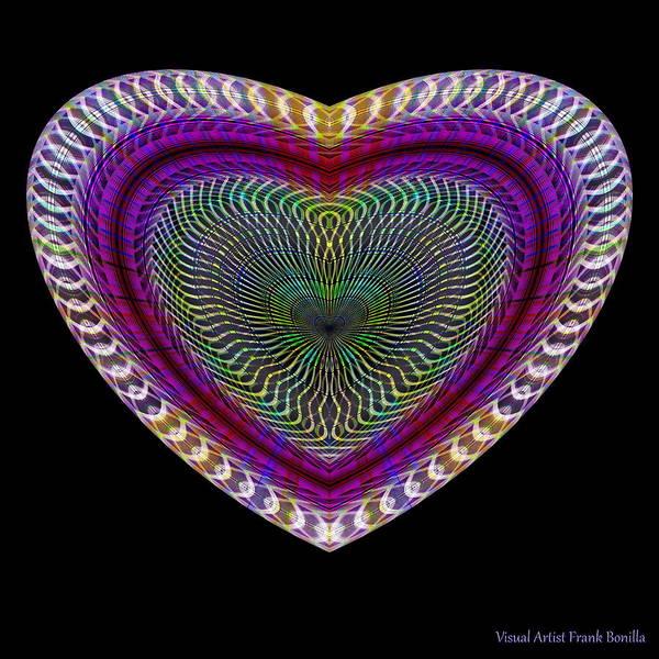 Digital Art - Hearts #17 by Visual Artist Frank Bonilla