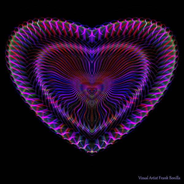 Digital Art - Hearts #19 by Visual Artist Frank Bonilla