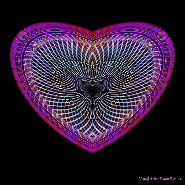 Digital Art - Hearts #2 by Visual Artist Frank Bonilla