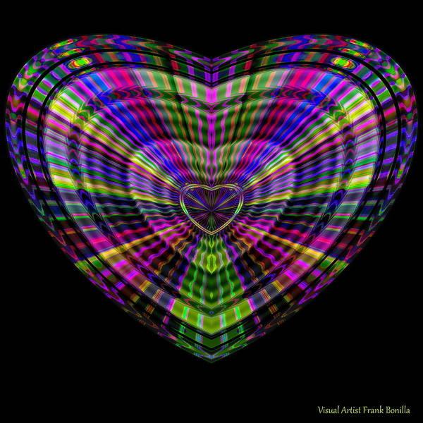 Digital Art - Hearts #20 by Visual Artist Frank Bonilla