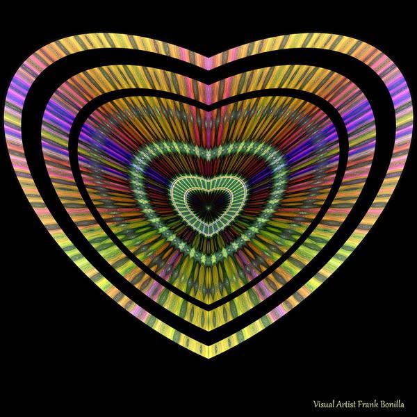 Digital Art - Hearts #21 by Visual Artist Frank Bonilla