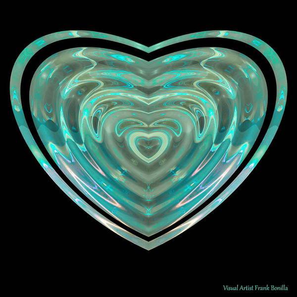 Digital Art - Hearts #23 by Visual Artist Frank Bonilla