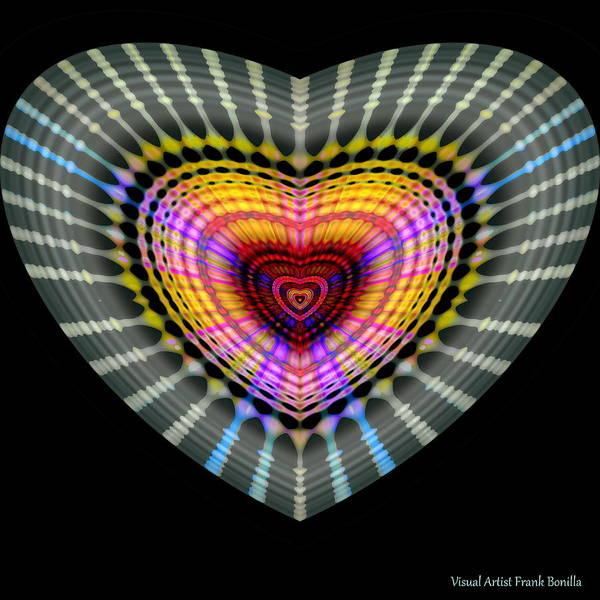 Digital Art - Hearts #24 by Visual Artist Frank Bonilla