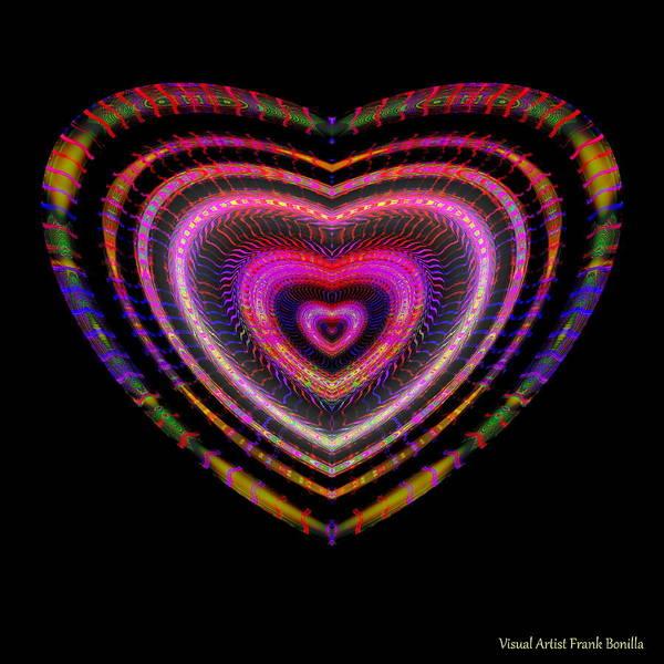 Digital Art - Hearts #25 by Visual Artist Frank Bonilla