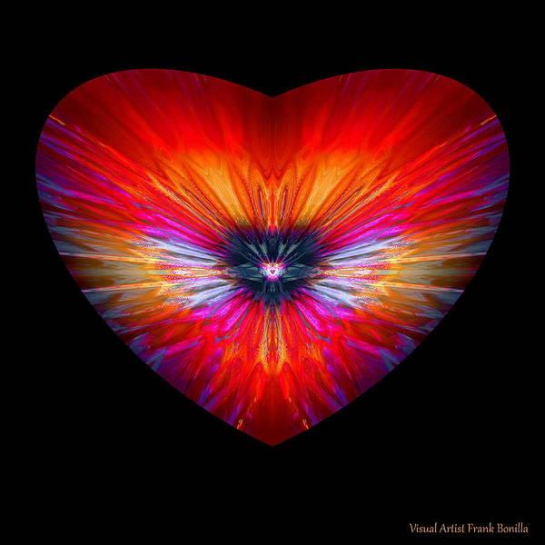 Digital Art - Hearts #26 by Visual Artist Frank Bonilla