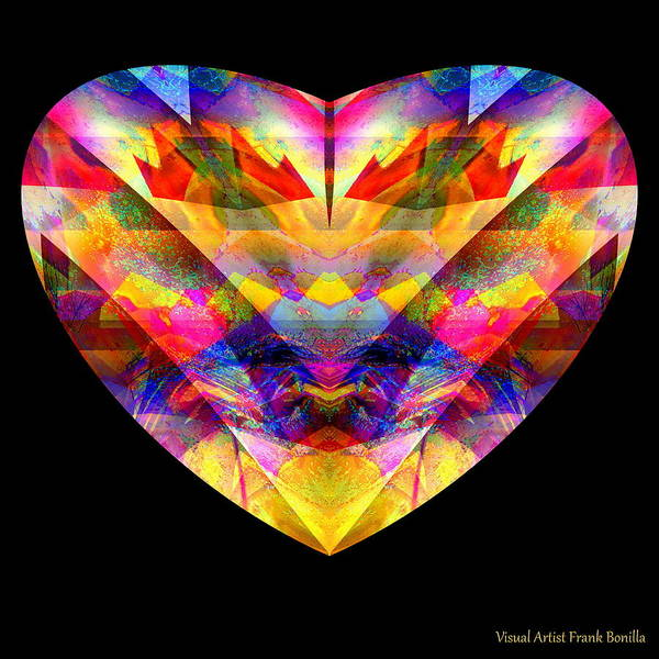 Digital Art - Hearts #27 by Visual Artist Frank Bonilla