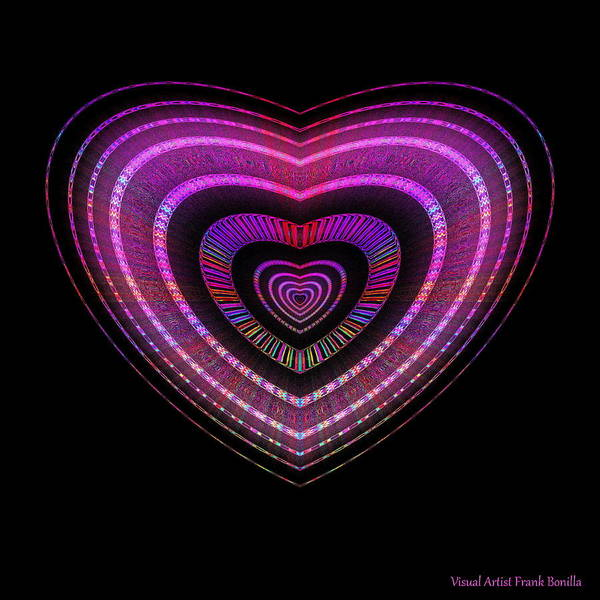 Digital Art - Hearts #28 by Visual Artist Frank Bonilla