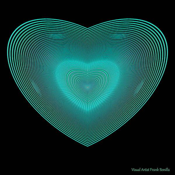 Digital Art - Hearts #29 by Visual Artist Frank Bonilla