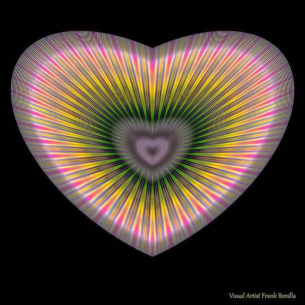 Digital Art - Hearts #30 by Visual Artist Frank Bonilla