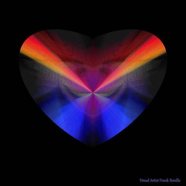 Digital Art - Hearts #39 by Visual Artist Frank Bonilla
