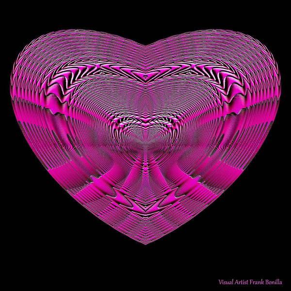 Digital Art - Hearts #4 by Visual Artist Frank Bonilla