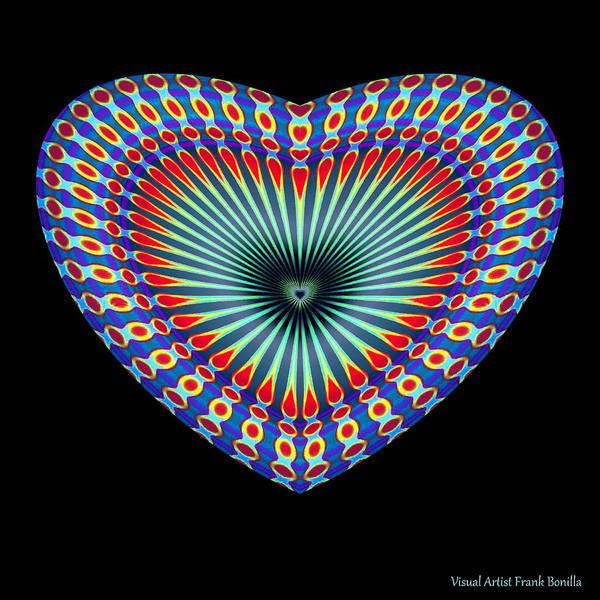Digital Art - Hearts #43 by Visual Artist Frank Bonilla