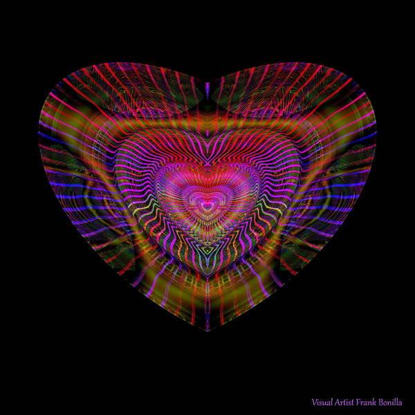 Digital Art - Hearts #5 by Visual Artist Frank Bonilla