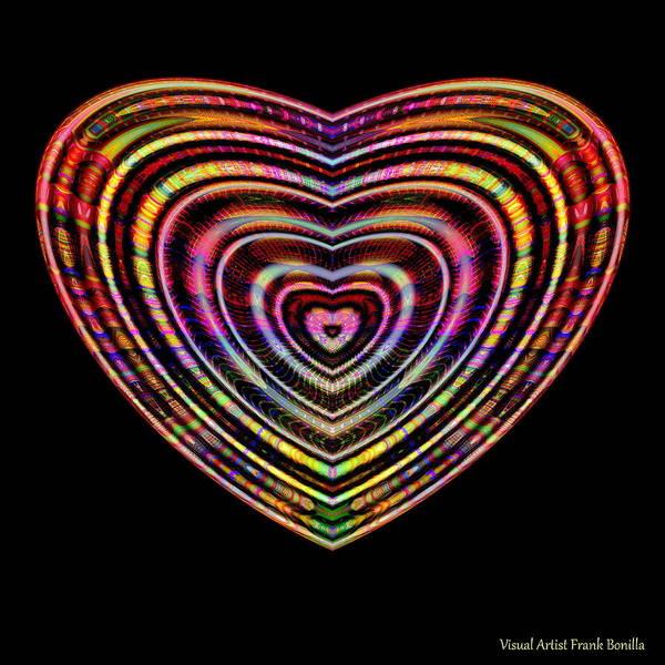 Digital Art - Hearts #6 by Visual Artist Frank Bonilla