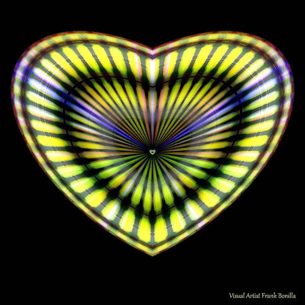 Digital Art - Hearts #7 by Visual Artist Frank Bonilla
