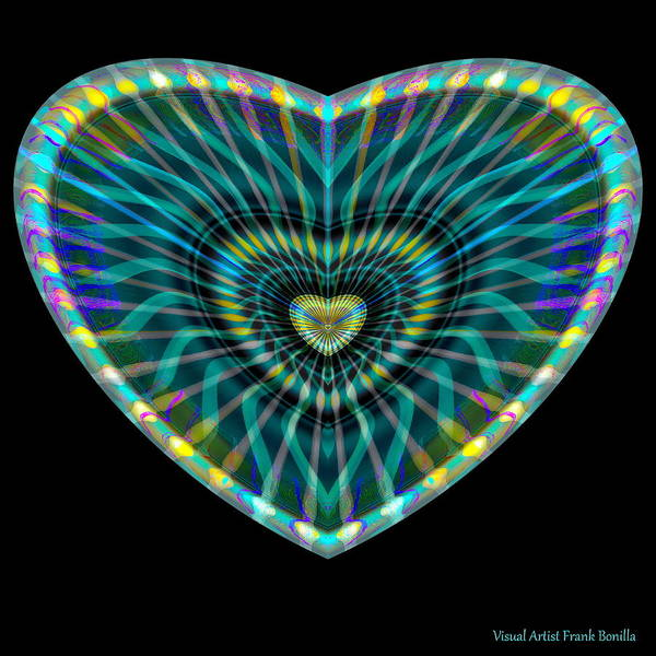 Digital Art - Hearts #8 by Visual Artist Frank Bonilla