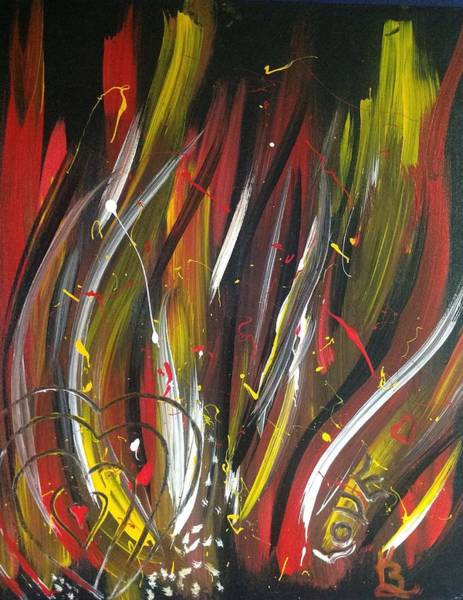 Painting - Hearts Afire  by Karen Buford