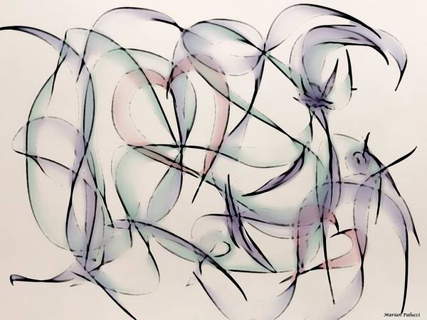 Painting - Hearts And Bows Abstract by Marian Palucci-Lonzetta