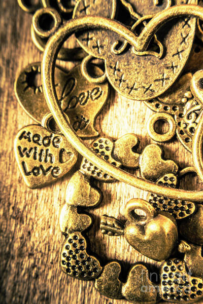 Brass Photograph - Hearts And Treasure by Jorgo Photography - Wall Art Gallery