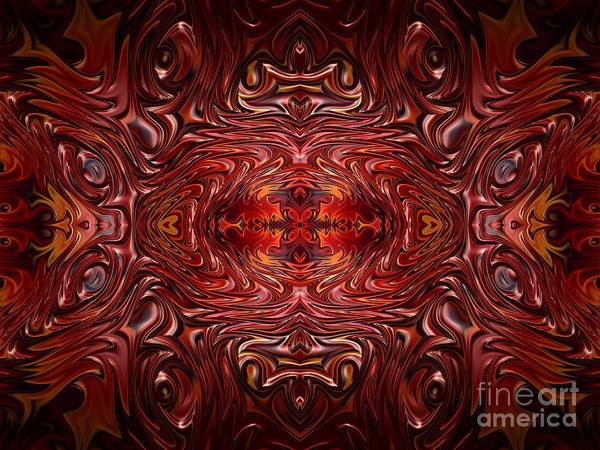 Digital Art - Hearts Fire Storm Of Love Fractal Abstract by Rose Santuci-Sofranko
