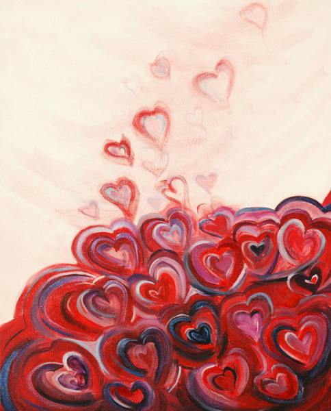 Painting - Hearts Given To God by Deborah Brown Maher