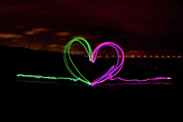 Photograph - Hearts In The Night by Nicole Lloyd