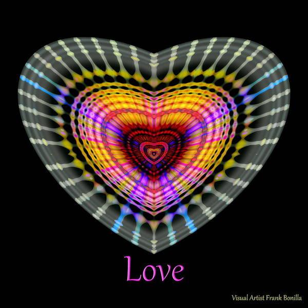 Digital Art - Hearts Love by Visual Artist Frank Bonilla