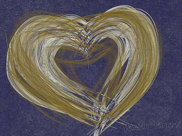 Painting - Hearts Of Gold by Marian Palucci-Lonzetta