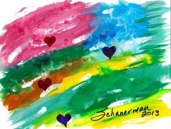 Painting - heARTs Of The Sea by Susan Schanerman