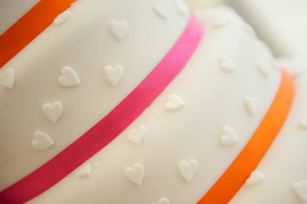 Photograph - Hearts On A Cake by Helen Northcott