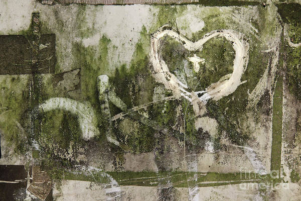 Wall Art - Photograph - Hearts Scribbled On A Very Dirty Surface by Michal Boubin