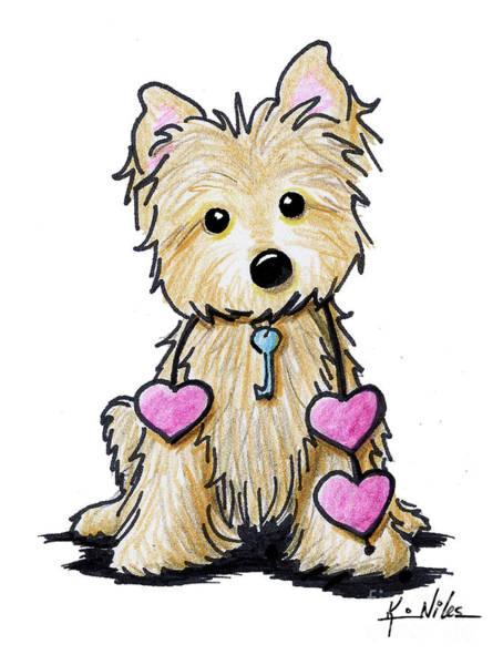 Wall Art - Drawing - Heartstrings Cairn Terrier by Kim Niles