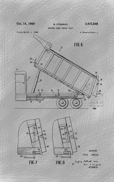 Heavy Duty Truck Wall Art - Photograph - Heated Dump Truck Body G4 by Howard Roberts