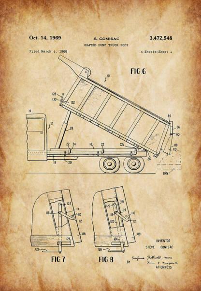 Heavy Duty Truck Wall Art - Photograph - Heated Dump Truck Body P4 by Howard Roberts