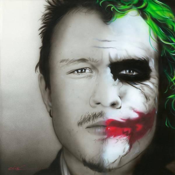 Seller Painting - Heath Ledger / Joker by Christian Chapman Art