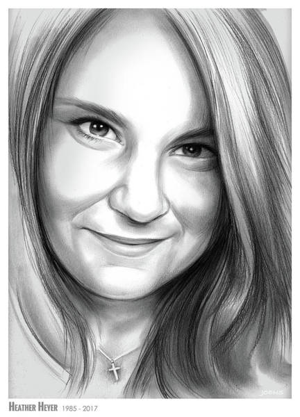 Heather Wall Art - Drawing - Heather Heyer by Greg Joens