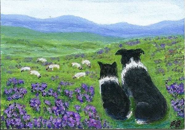 Painting - Heather Hills Watch by Fran Brooks