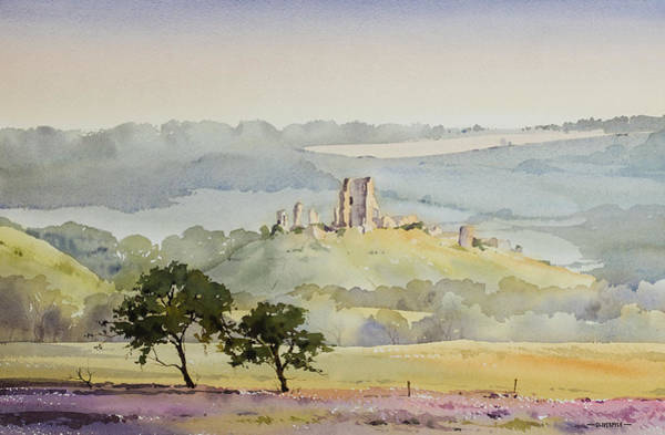 Corfe Painting - Heathland Views Near Arne by Oliver Pyle