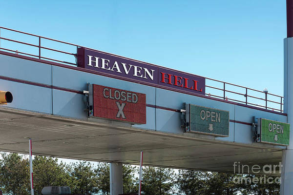 Photograph - Heaven And Hell Admission Gates by Les Palenik