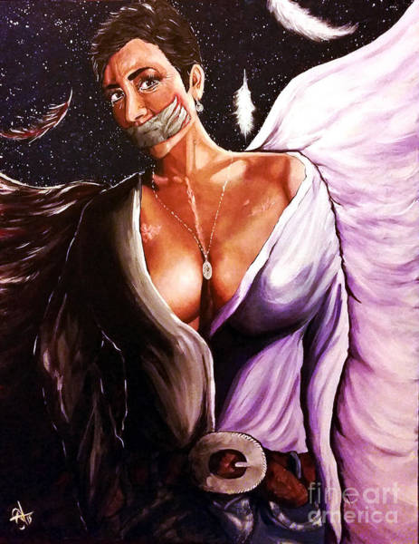 Chest Pain Painting - Heaven And Hell by Jackie Carpenter