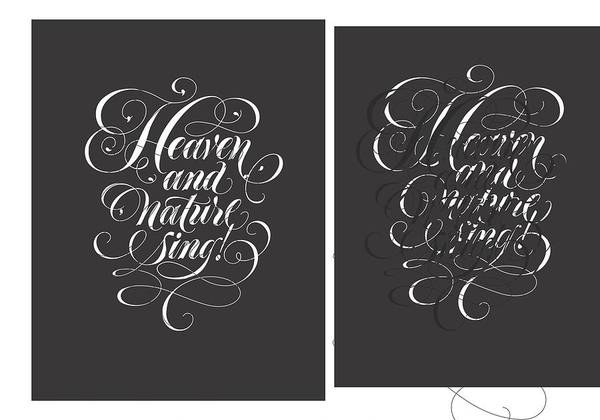 Wall Art - Photograph - Heaven And Nature Sing Lettering - Ai by Gillham Studios