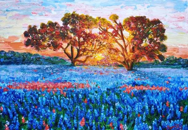 Wall Art - Painting - Heaven In Texas by Suzanne King