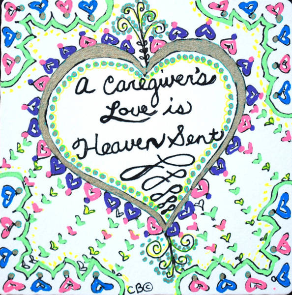 Drawing - Heaven Sent by Carole Brecht
