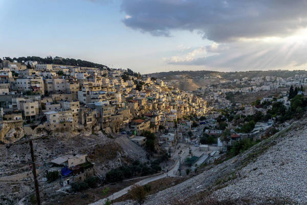 Photograph - Heaven Shines On The City Of David by Boyce Fitzgerald