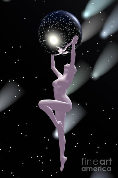Digital Art - Heavenly Bodies by Sandra Bauser Digital Art