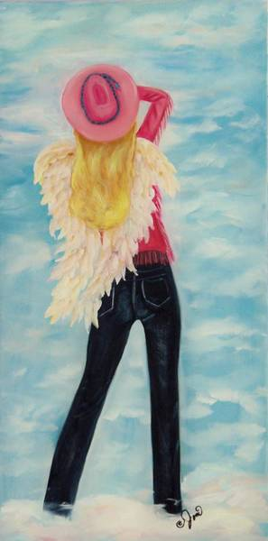 Painting - Heavenly Cowgirl by Joni McPherson